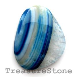 #Cabochon, agate (dyed), 37x48mm freeform. #TreasureStone #Beads Edmonton.