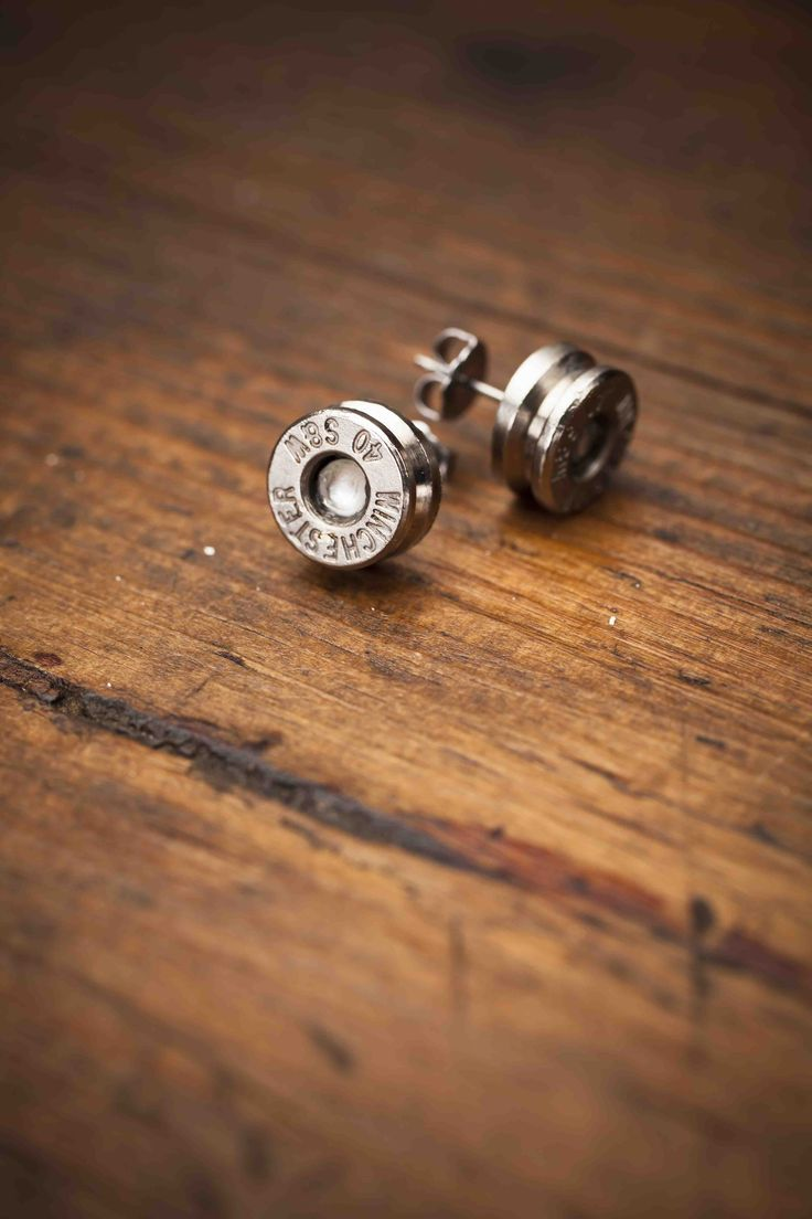 40 Caliber Bullet Earrings from @Bourbon and Boots