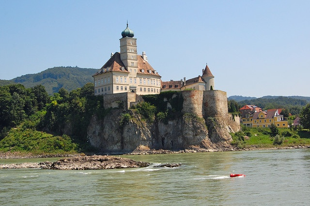 Castle Schönbühel and the Donau river in Austria