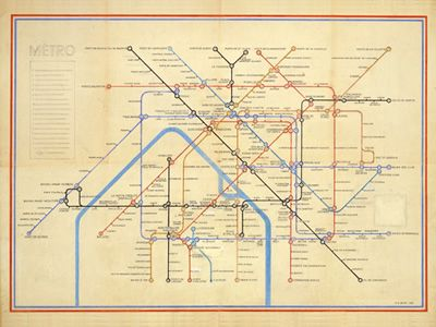 visualcomplexity.com | Paris Metro by Harry Beck