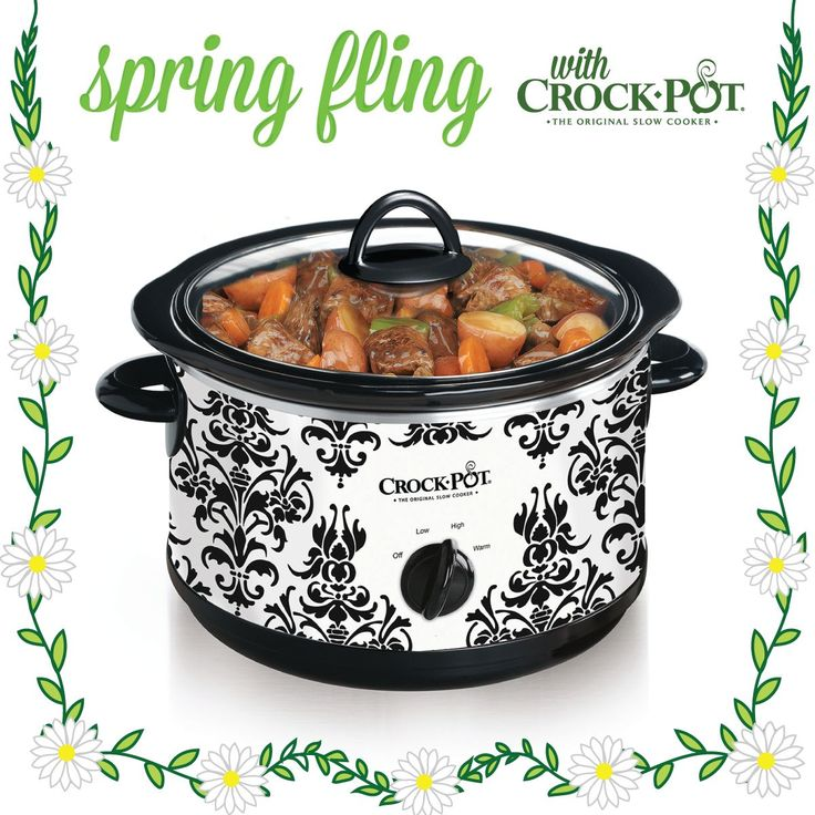 Manual Slow Cooker With Damask Pattern At Crock-Pot.com