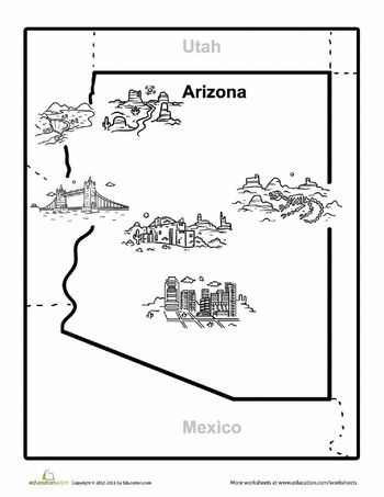 1000 images about Arizona Worksheets
