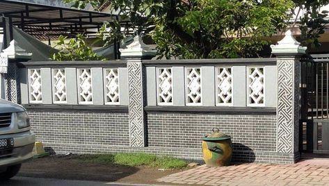 33+ contoh gambar dan model pagar tembok rumah minimalis