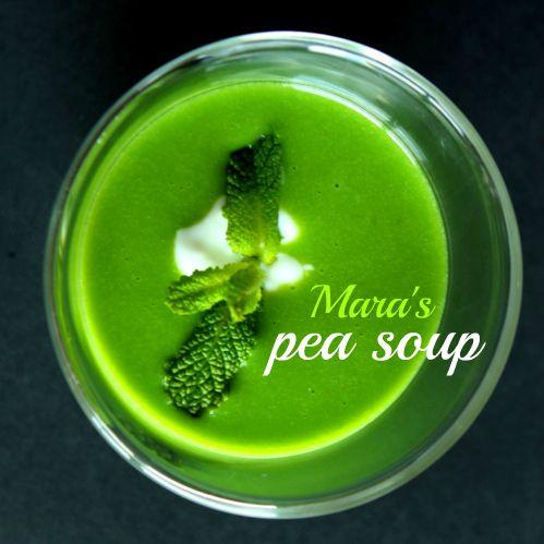 An eye-catcher: Mara's #Easy #Thermomix Pea #Soup #Recipe