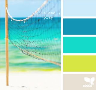 Another FANTASTIC island inspired color pallet for interior design purposes... bring the outdoors indoors!