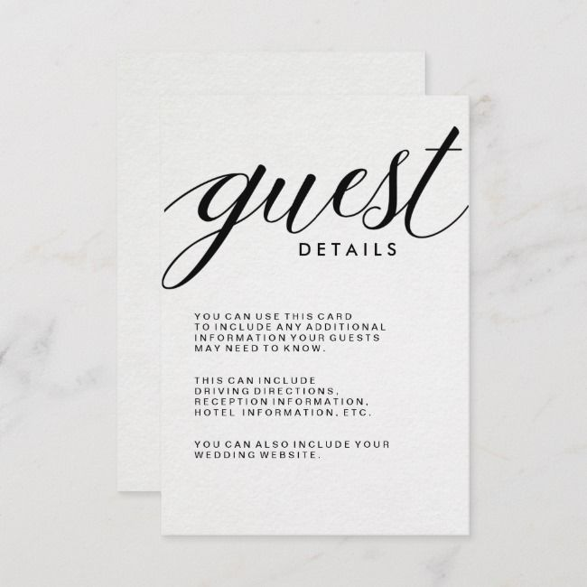 Create Your Own Enclosure Card Zazzle Com In 2021 Wedding With Kids Wedding Details Card Wedding Invitations Stationery