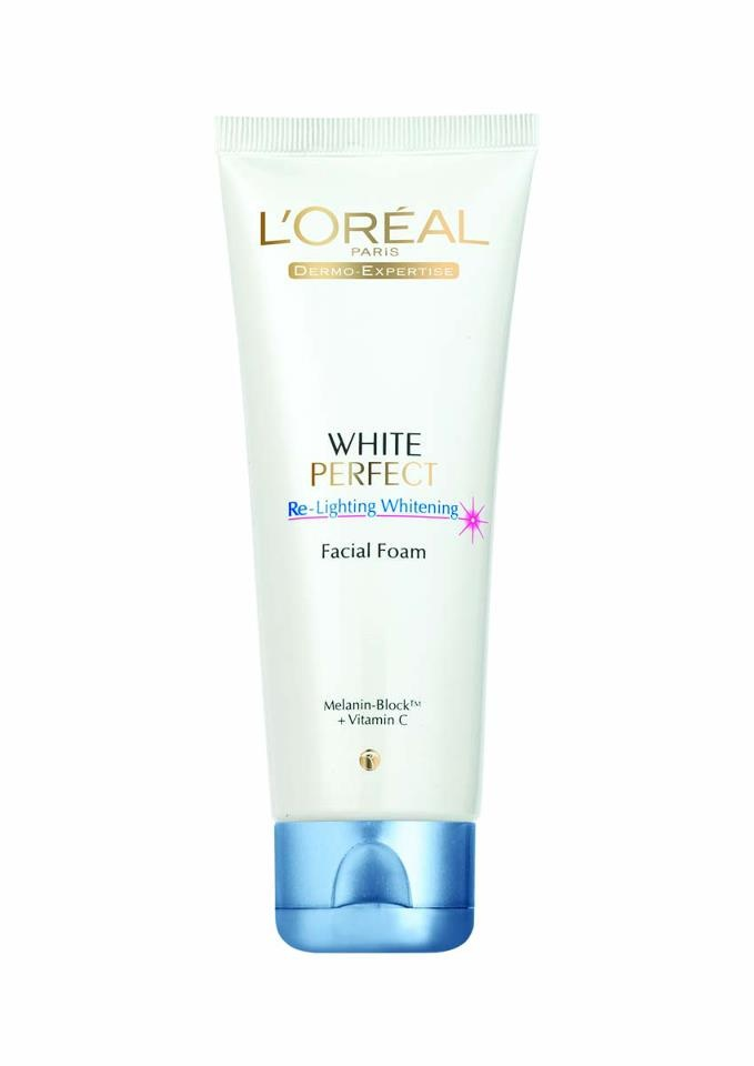 White perfect active whitening facial foam