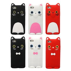 Cute-Cartoon-Animal-Lovers-Sister-Cat-Soft-Silicone-Skin-Case-For-iPhone-5-5S-5C