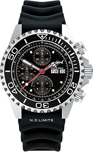 Chris Benz Deep 500m Chronograph CB-500A-C1-KB Cronógrafo Automático para hombres Reloj de Buceo