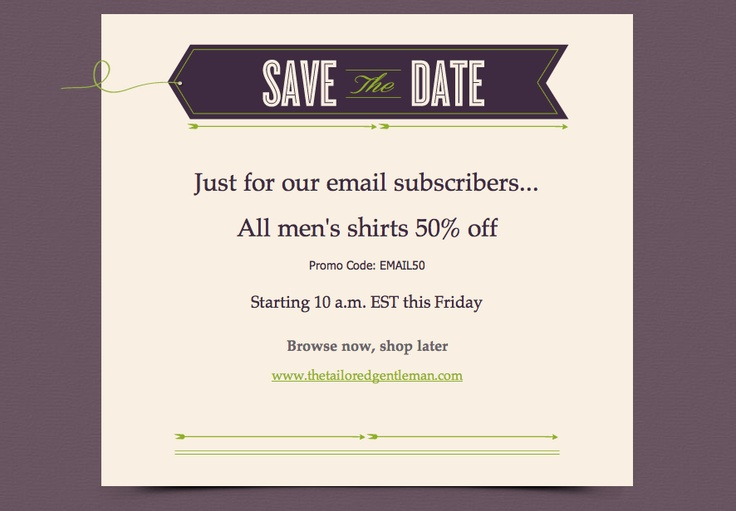 super simple save the date