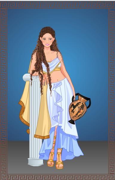 Ancient girl doll made by Astghik Mnatsakanyan