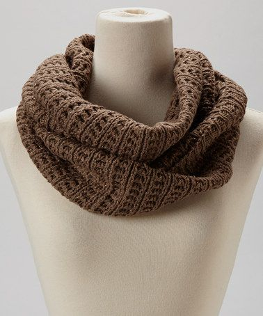 Take a look at this Mocha Rib Knit Infinity Scarf by Joy Accessories on #zulily today!