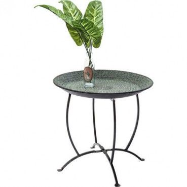 Jolie table exotique et orientale !  Table d'appoint Oasis verte 45 cm Kare Design