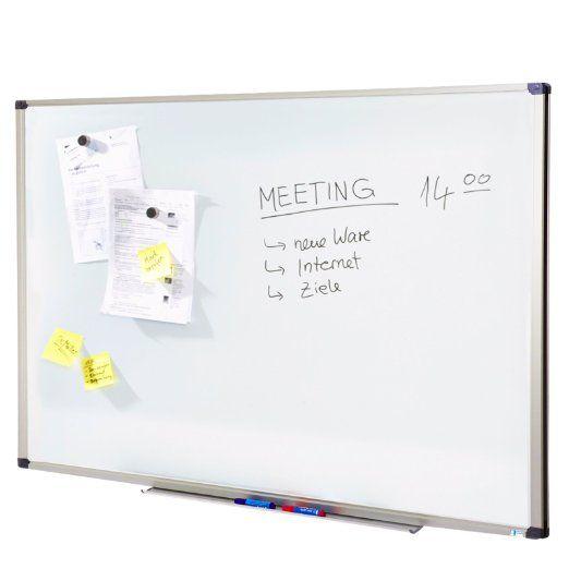 Tableau blanc Master of Boards® surface laquée résistante   tailles diverses - cadre en aluminium   effaçable et inscriptible, 60x90cm: Amazon.fr: Fournitures de bureau