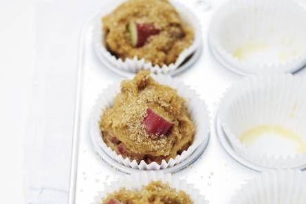 Rabarber sinaasappel muffins