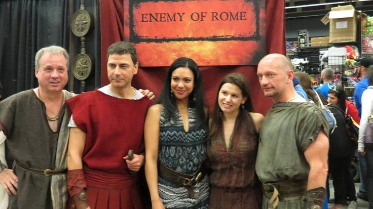 Malina (Angie Medrano) at Montreal ComicCon to promote Enemy of Rome