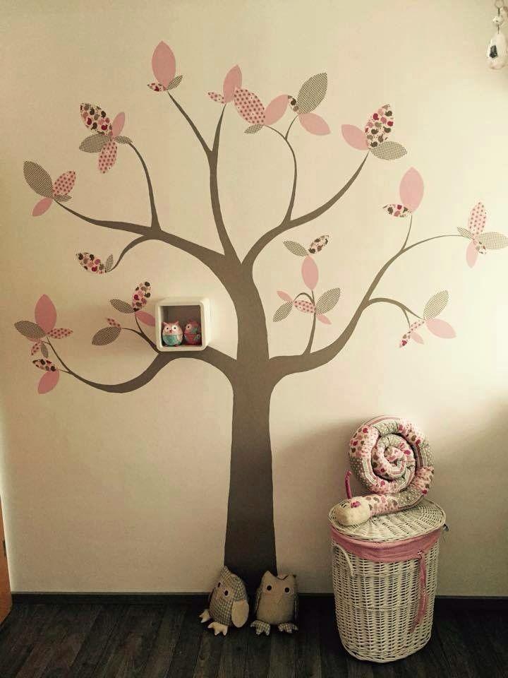 Tanja S. Hat Diesen Baum An Die Wand Des Kinderzimmers Ihrer Kleinen  Angebracht. Die Blätter Bestehen Dabei Aus Stoff : ) Ist Wirklich Toll  Geworden Oder?