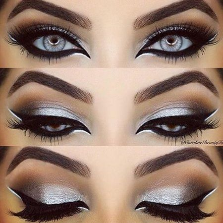 Sexy Silver Eye Look By Carolinebeautyinc - Angelica Sky
