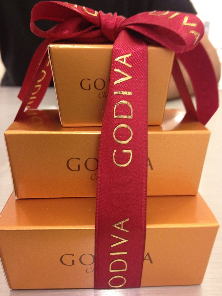 The gold box is timeless...Godiva chocolate