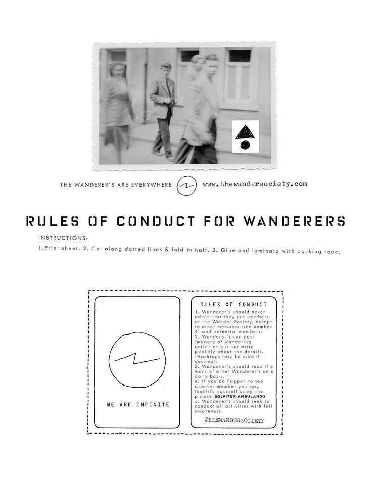 The Wander Society - Rules of Conduct