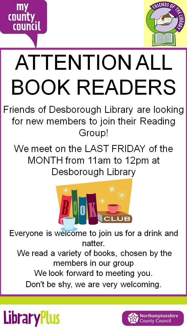 Desborough Friends Of The Library: reading group