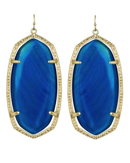.: Colors Patterns, Kendrascott, Drop Earrings, Fall Favorite, L'Wren Scott, Kendra Scott, Blue Agates, Scott Earrings, Daniel Earrings