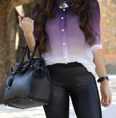 Purple on Leather