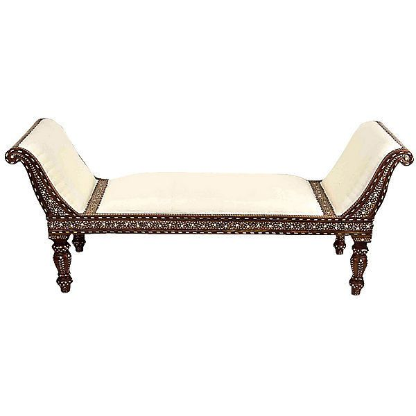Pre-Owned Anglo-Indian Bone Inlay Chaise Longue ($4615) ? liked on  sc 1 st  Pinterest : second hand chaise longue - Sectionals, Sofas & Couches