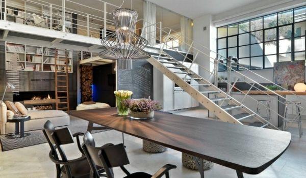 Unglaubliches Loft In Italien Tisch Esszimmer Stuhl Treppe Idee | Loft |  Pinterest | Architettura, Interni E Interior Design