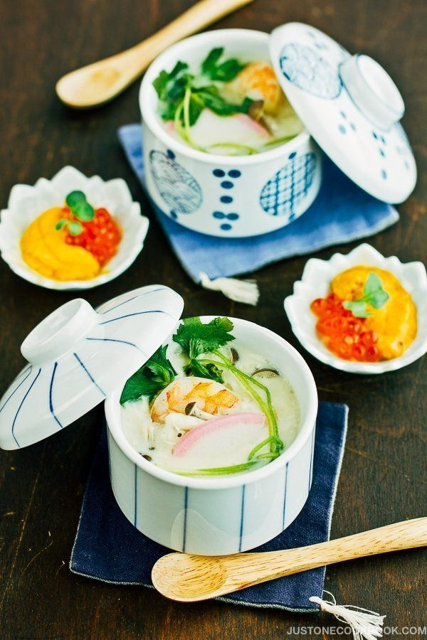 Chawanmushi with Shrimp 海老の茶碗蒸し | Easy Japanese Recipes at JustOneCookbook.com