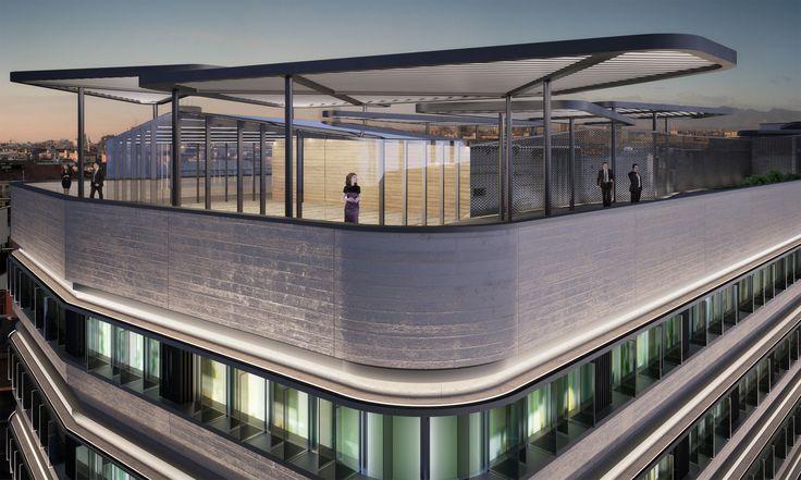 Rooftop Terrace rendering of Gioiaotto by @parkassociati  #ParkAssociati #HinesItalia #Milano #LeedPlatinum #PortaNuova #PNSC #SmartCommunity #MarcoZanuso #PietroCrescini #Refurbishment #Architecture #Design #InteriorDesign #OfficeDesign #Gioiaotto #ContemporaryArchitecture #Grid #Glass #Installations #Fins #ColouredGlass #Steel #Timber #2012 #2014 #Facade #Office #Hotel #EntranceHall #RoofGarden #Giardino #Facciata #View #Terrace #Finestre #Ufficio #Terrazza