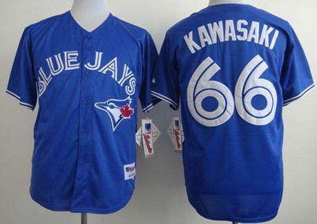 Кофта дешевые высокое качество 2015 мужские торонто блю джейс # 66 MUNENORI KAWASAKI альтернативный прошитой бейсбол кофта продажа