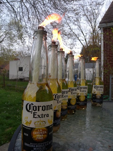 diy corona tiki torches tiki style pinterest the