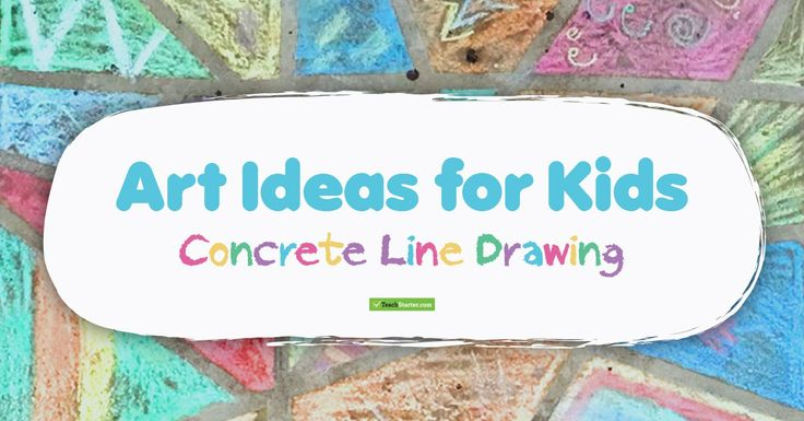 Art Ideas for Kids: Outdoor Line Drawing