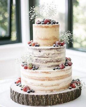 Weddbook ♥ ️ Deze bruidstaart is zo geweldig met de halfnaakte buitenkant en …
