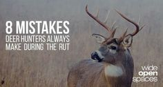 If you don't use aggressive unconventional tactics for hunting during the deer rut you are doing it wrong. Increase your odds of success with these tips. http://riflescopescenter.com/category/barska-riflescope-reviews/  http://www.wideopenspaces.com/8-common-deer-hunting-mistakes-rut/  https://www.facebook.com/PreppingMeansPrepared/