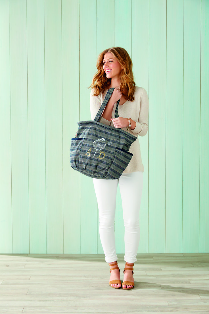 Thirty-one SPRING 2018 / Retro Metro Bag in NEW PRINT Woven Stripe  /   https://www.mythirtyone.com/1872596/product/8770