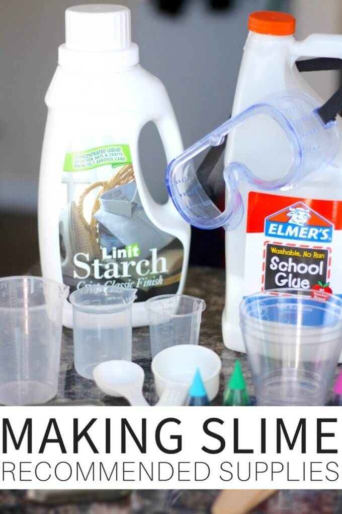 Looking for the best recommended supplies for making slime? We have a great list of slime supplies for making slime including our incredible homemade slime recipes. Find the supplies for making fluffy slime, saline slime, borax slime, liquid starch slime, and more. Free printable slime recipes and slime supplies checklist to use too. Slime science is fun science for kids.