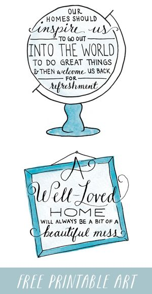 Free Printable Artwork and Tech Backgrounds - Love the Home You Have - The Inspired Room blog