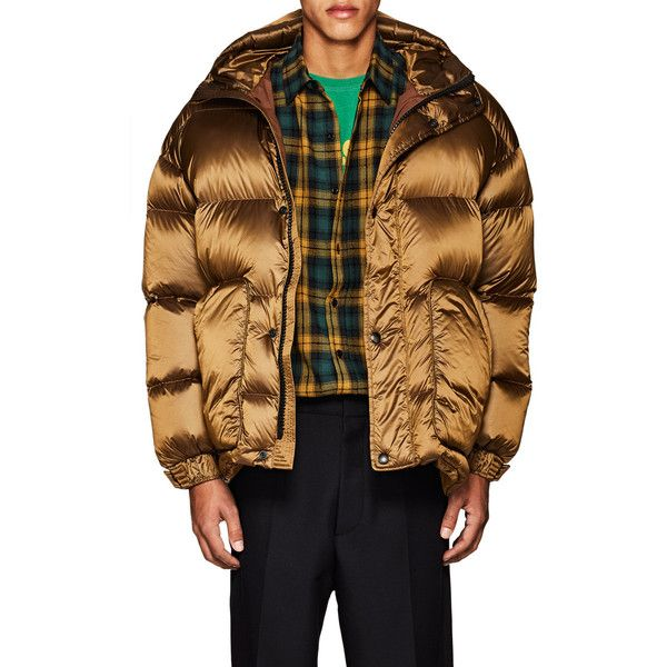 IENKI IENKI Men's Oversized Down-Quilted Hooded Parka ($1,250) ❤ liked on Polyvore featuring men's fashion, men's clothing, men's outerwear, men's coats, mens parka coats, mens quilted coat, mens hooded parka and mens parka