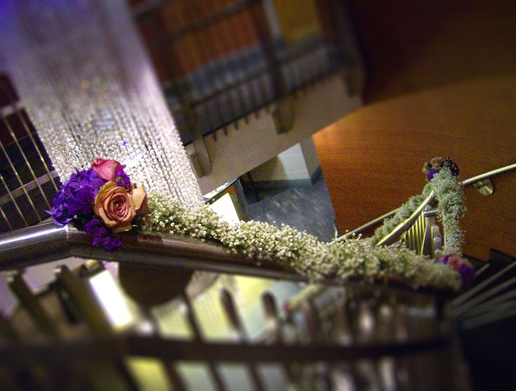 49 best staircase flowers images on pinterest ladders stairways wedding flowers staircase decoration junglespirit Image collections