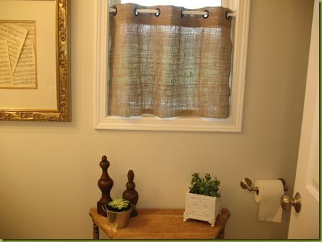 I Love These Burlap Cafe Curtains!