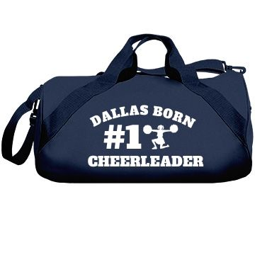Dallas Cheerleader | A wonderful and professionally made cheer bag for the serious cheerleader. Pick from various colours and you can customize it to be your very own.