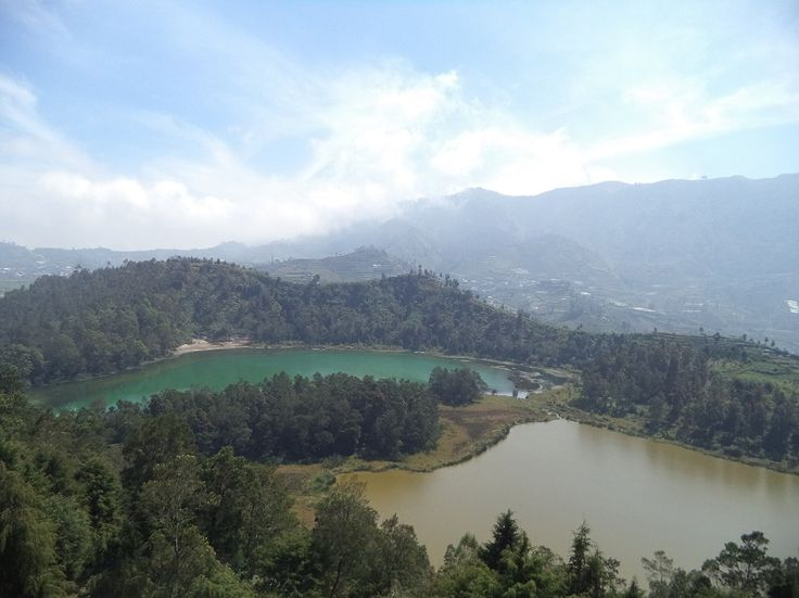 Telaga Warna or Color Lake View From Above