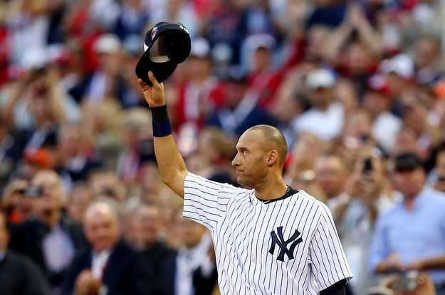 "derek jeter august 2014 | CBS News Calls Derek Jeter ""Michael Jeter"" In All-Star Game Tweet"