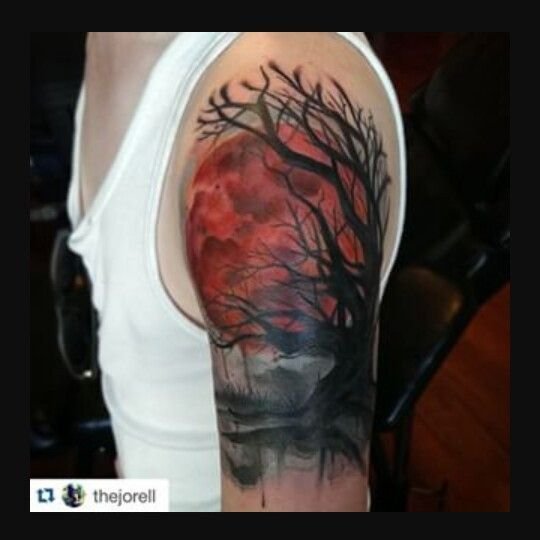 red moon tattoo - photo #1
