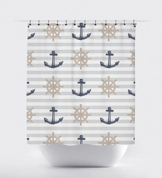 1000 Ideas About Nautical Shower Curtains On Pinterest