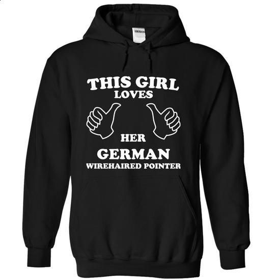This Girl Loves Her German Wirehaired Pointer - #transesophageal echocardiogram #college hoodies. CHECK PRICE => https://www.sunfrog.com/Pets/This-Girl-Loves-Her-German-Wirehaired-Pointer-zmxnx-Black-15075394-Hoodie.html?60505
