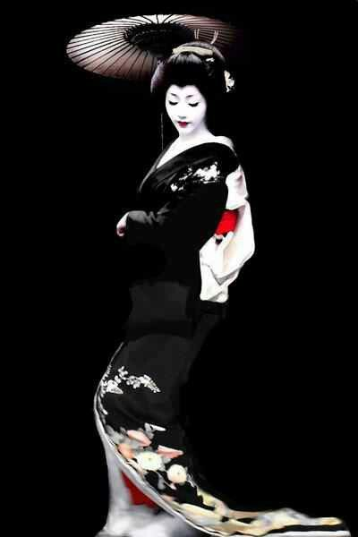 Geisha. Contrary to myth, geisha's were not prostitutes. They were hired as evening companions to entertain by singing and dancing and to engage in conversation.