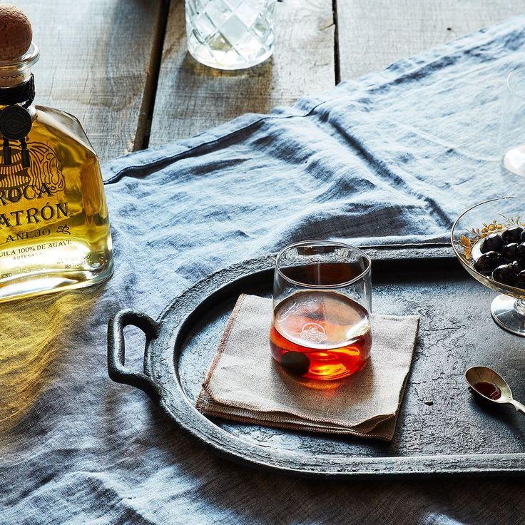 Tequila Manhattan - lemon, luxardo cherry, chocolate bitters, sweet vermouth